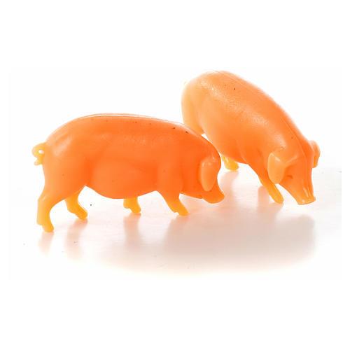 Nativity figurine, pig in resin 6-8-10 cm (2 pcs) 1