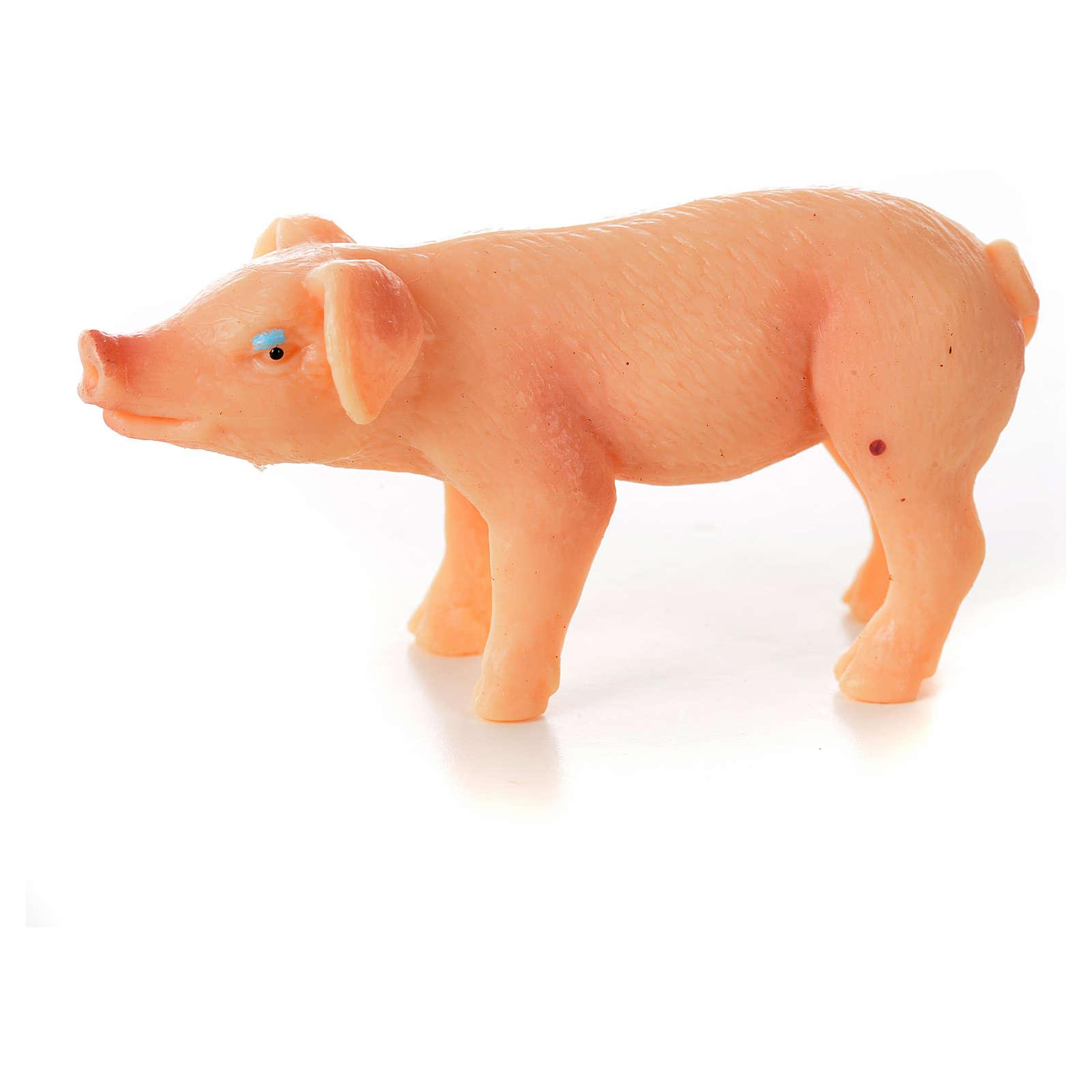Porc en résine crèche de noël, 6-8-10 cm 3