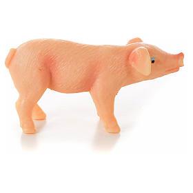 Nativity figurine, pig in resin 6-8-10 cm s1