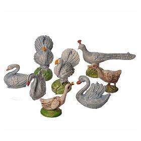 Ensemble de gallinacés crèche 8 pcs 9-13 cm s1