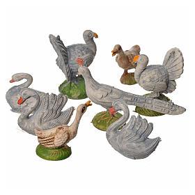 Ensemble de gallinacés crèche 8 pcs 9-13 cm s2