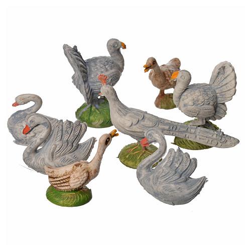 Ensemble de gallinacés crèche 8 pcs 9-13 cm 2