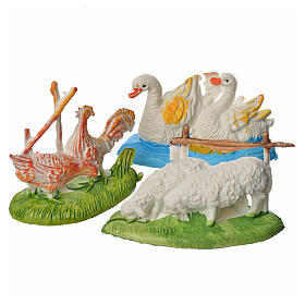 Nativity figurine, couples of animals, 3 pcs 9-13 cm s1