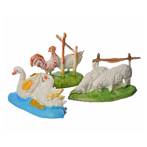 Nativity figurine, couples of animals, 3 pcs 9-13 cm 2