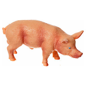 Animaux pour la crèche: Porc résine pour crèche 10-12 cm