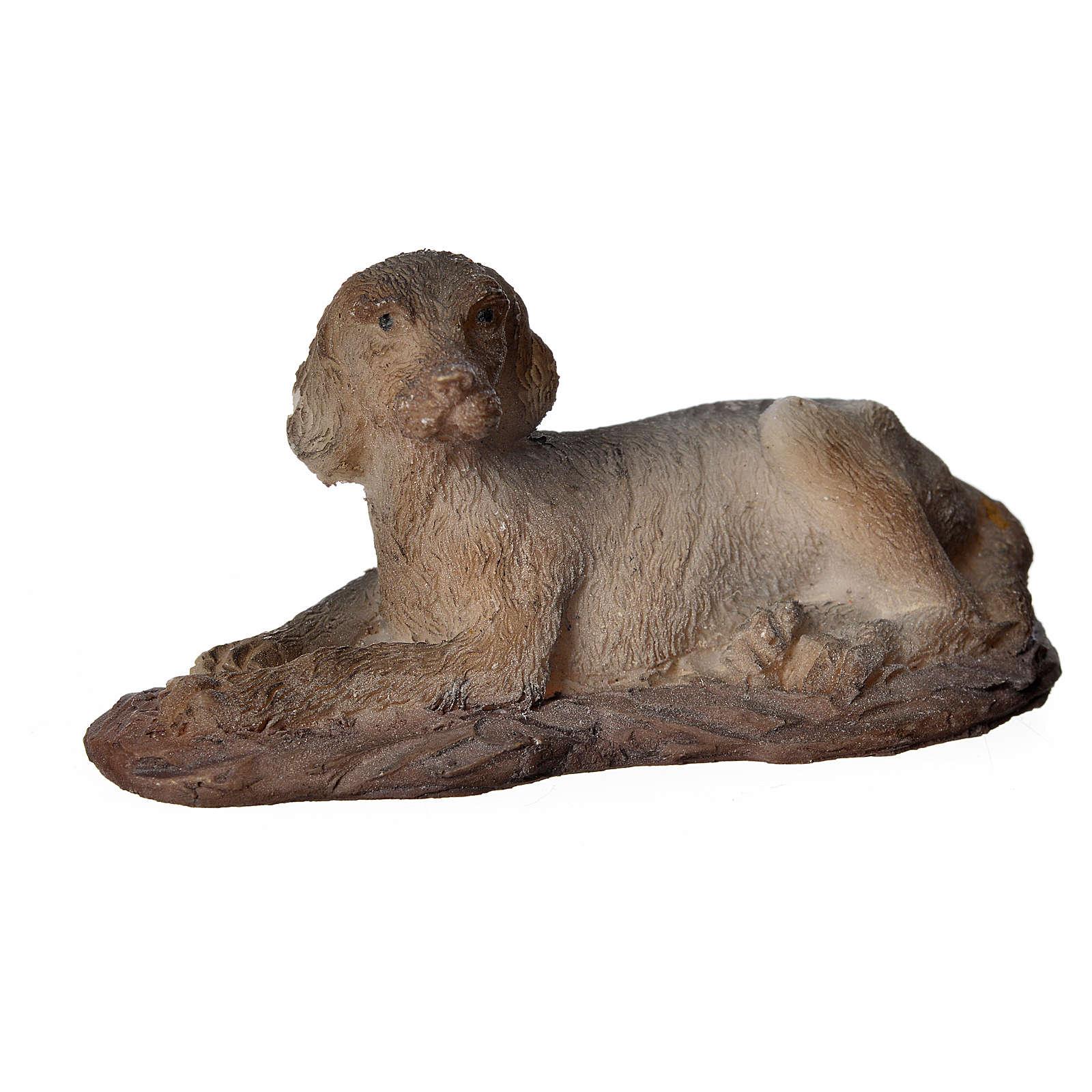 Cane in resina presepi 15 cm 3