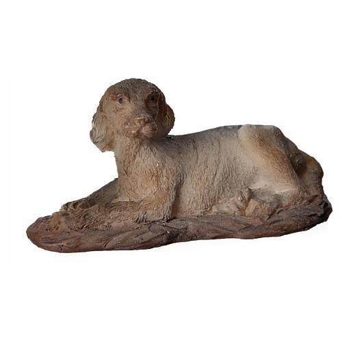 Cane in resina presepi 15 cm 1