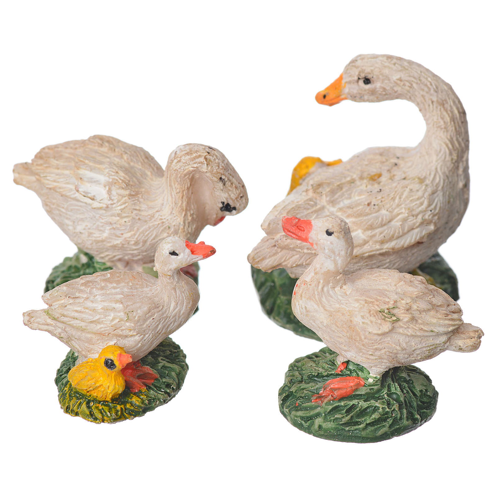 Nativity figurine, resin ducks, 4 pieces 10cm 3