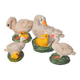 Patos resina 4 piezas 10 cm s1