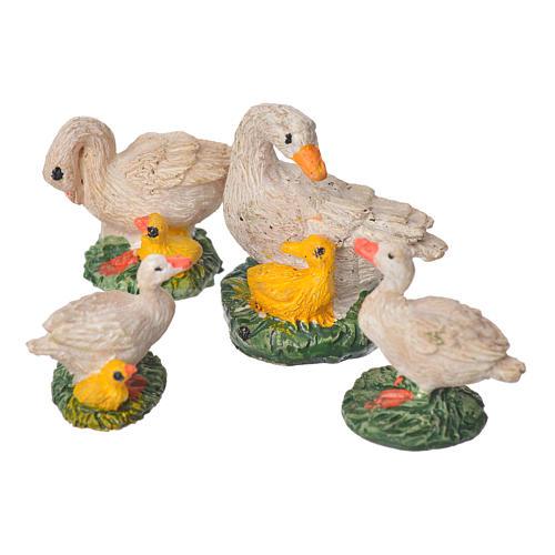 Patos resina 4 piezas 10 cm 1