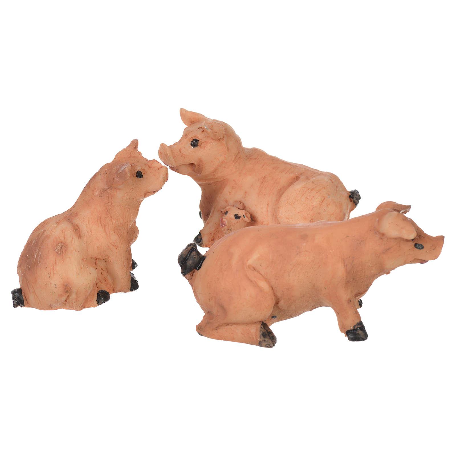 Cochons 3 pièces crèche 6-8 cm 3