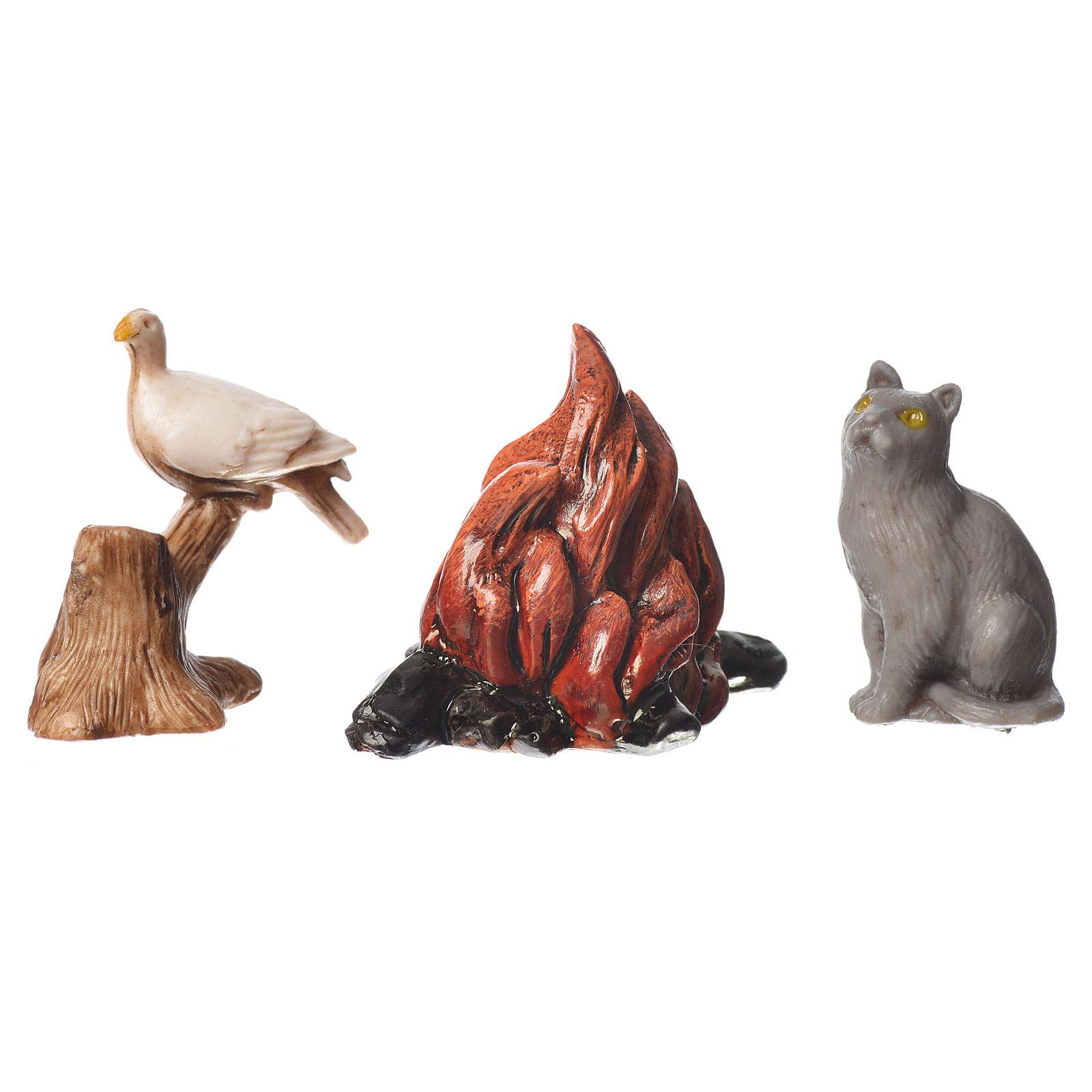 Animali e fuoco 5 pz Moranduzzo cm 10 4