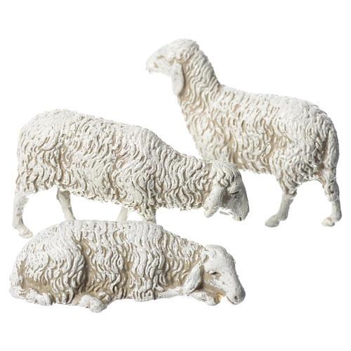 Moutons crèche Moranduzzo 10cm, 3 pcs 1