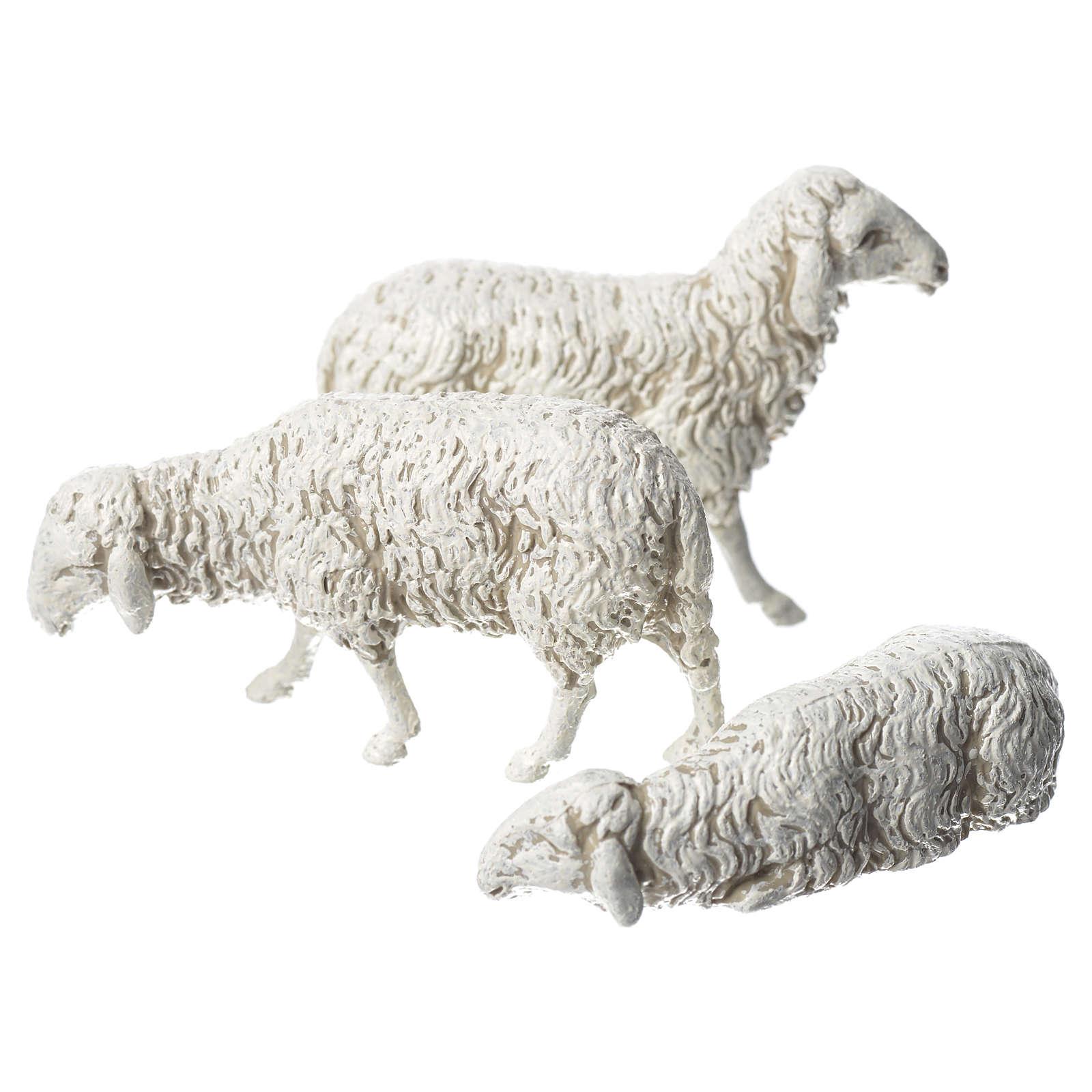 Pecore 3 pezzi Moranduzzo 10 cm 4