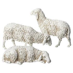 Presépio Moranduzzo: Ovelhas 3 peças para Presépio Moranduzzo com figuras de altura média 10 cm