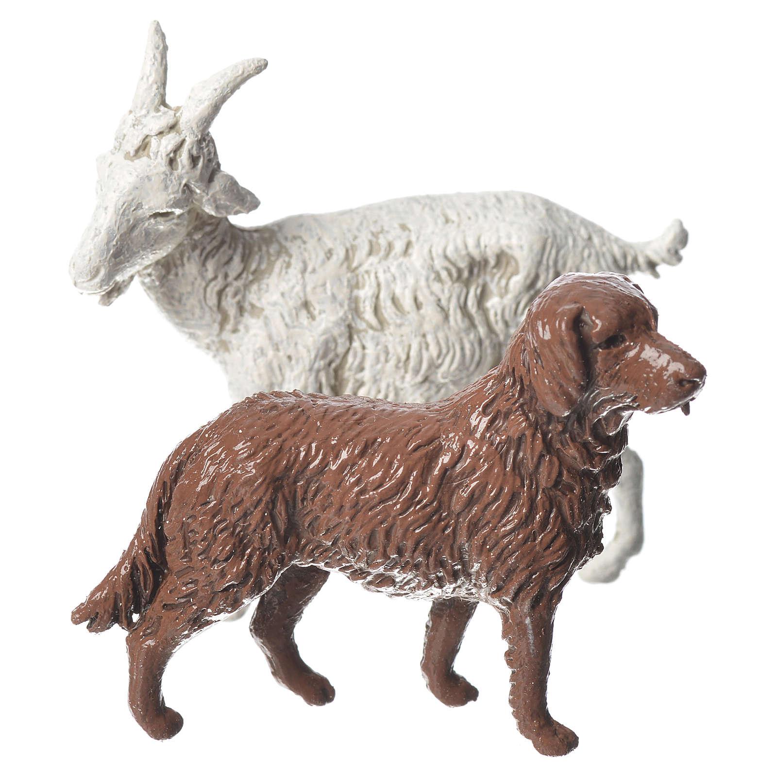 Ziege Hund und Schafe 8St. 10cm Moranduzzo 4