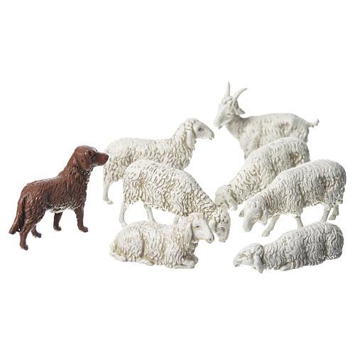 Cabra cão e ovelhas 8 peças Moranduzzo 10 cm 1