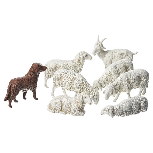 Nativity Scene goat dog and sheep by Moranduzzo 10cm, 8 pieces 1
