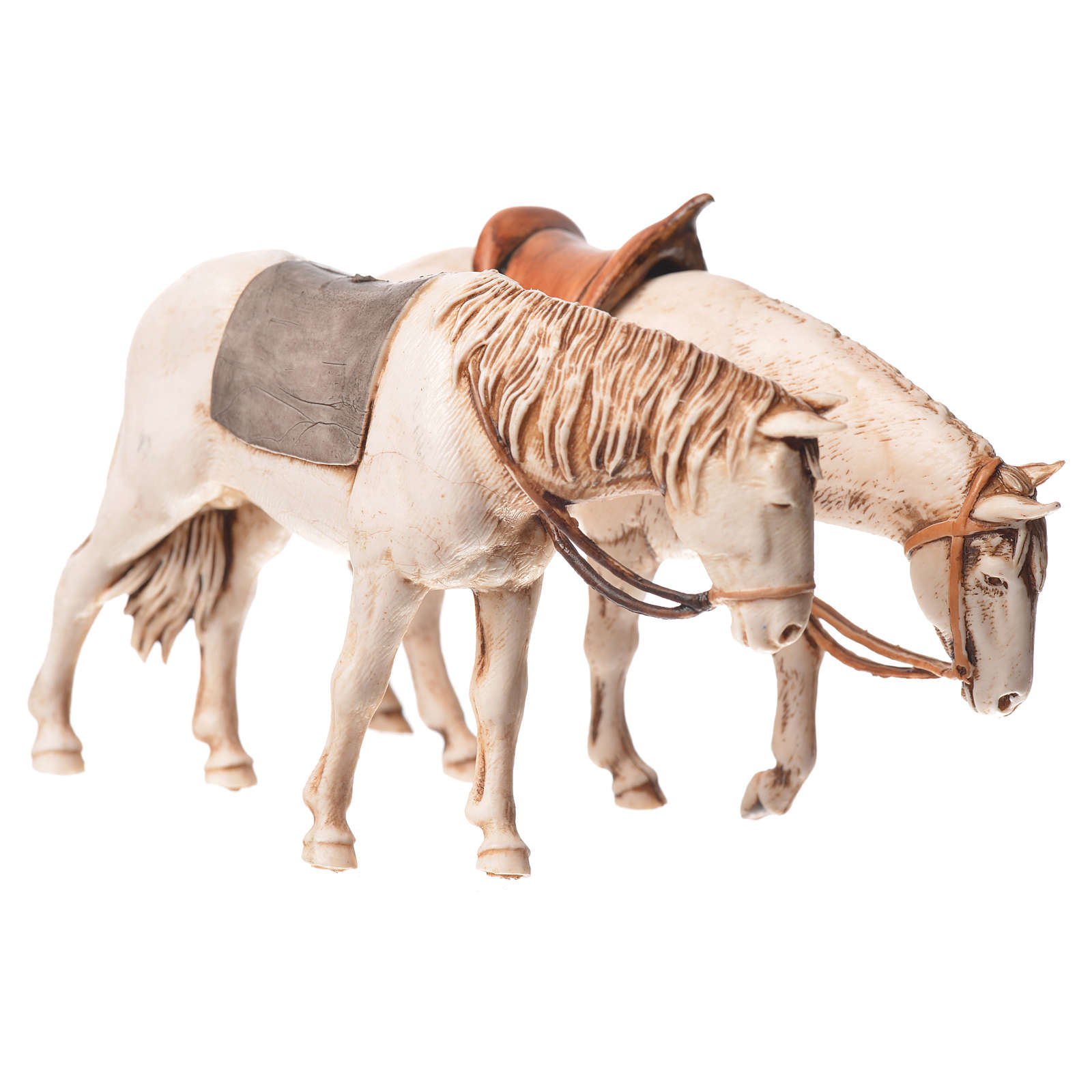 Cavalos 2 peças Moranduzzo para Presépio com figuras de altura média 10 cm 4