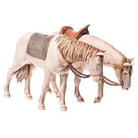 Cavalos 2 peças Moranduzzo para Presépio com figuras de altura média 10 cm s1