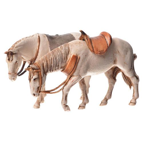 Cavalos 2 peças Moranduzzo para Presépio com figuras de altura média 10 cm 2