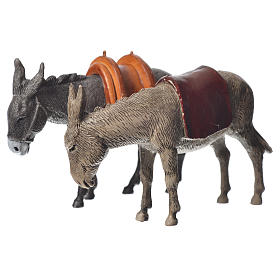 Nativity Scene Donkeys by Moranduzzo 10cm, 2 pieces s2