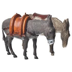 Presépio Moranduzzo: Burros modelos diferentes 2 peças para Presépio Moranduzzo com figuras de altura média 10 cm