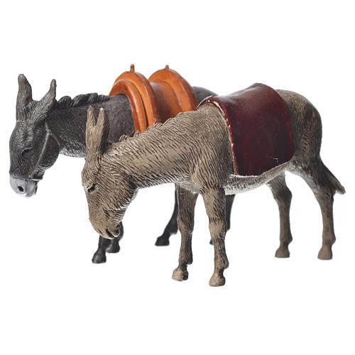 Nativity Scene Donkeys by Moranduzzo 10cm, 2 pieces 2