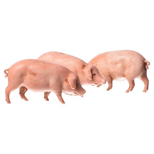 Nativity Scene pigs by Moranduzzo 10cm, 3 pieces 1