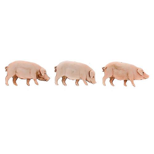 Nativity Scene pigs by Moranduzzo 10cm, 3 pieces 2