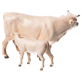 Nativity Scene cow and calf by Moranduzzo 8cm s2