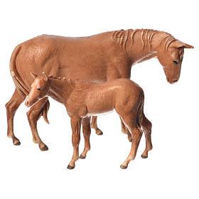 Krippe Moranduzzo: Pferd und Fohlen für 8cm Krippe Moranduzzo