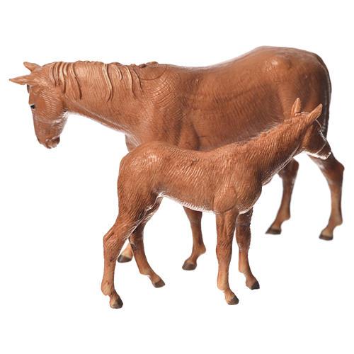 Cavalo e potro para Presépio Moranduzzo com figuras de altura média 8 cm 2