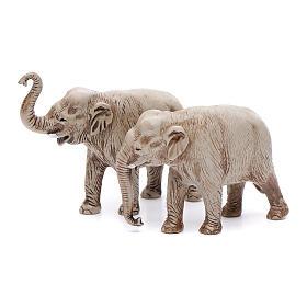 Belén Moranduzzo: Elefantes surtidos, 2 pdz, para belén de Moranduzzo con estatuas de 3,5 cm