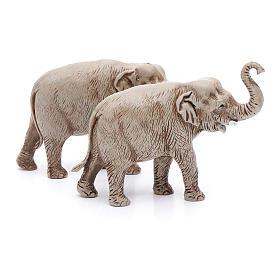Elefantes surtidos, 2 pdz, para belén de Moranduzzo con estatuas de 3,5 cm s3