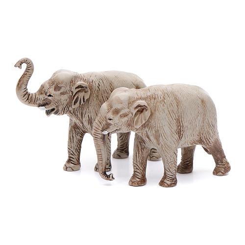 Elefantes surtidos, 2 pdz, para belén de Moranduzzo con estatuas de 3,5 cm 1