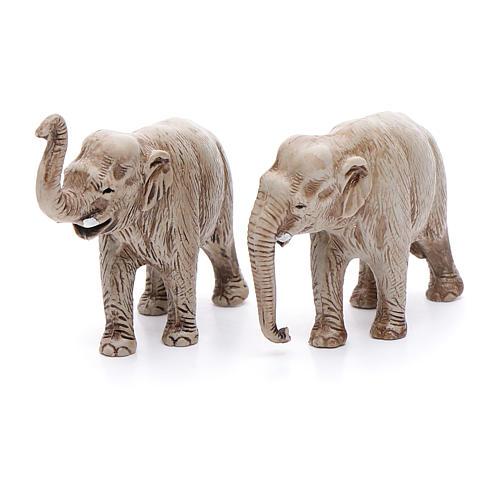Elefantes surtidos, 2 pdz, para belén de Moranduzzo con estatuas de 3,5 cm 2