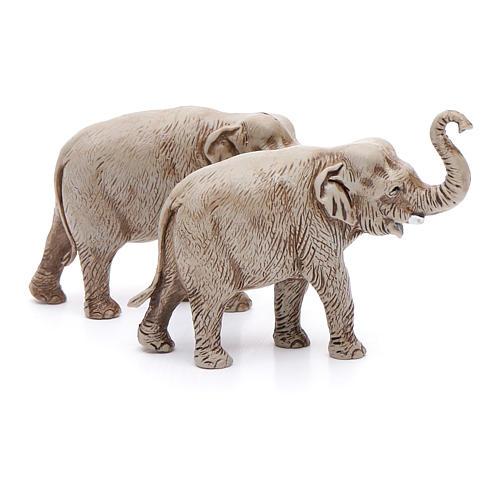 Elefantes surtidos, 2 pdz, para belén de Moranduzzo con estatuas de 3,5 cm 3