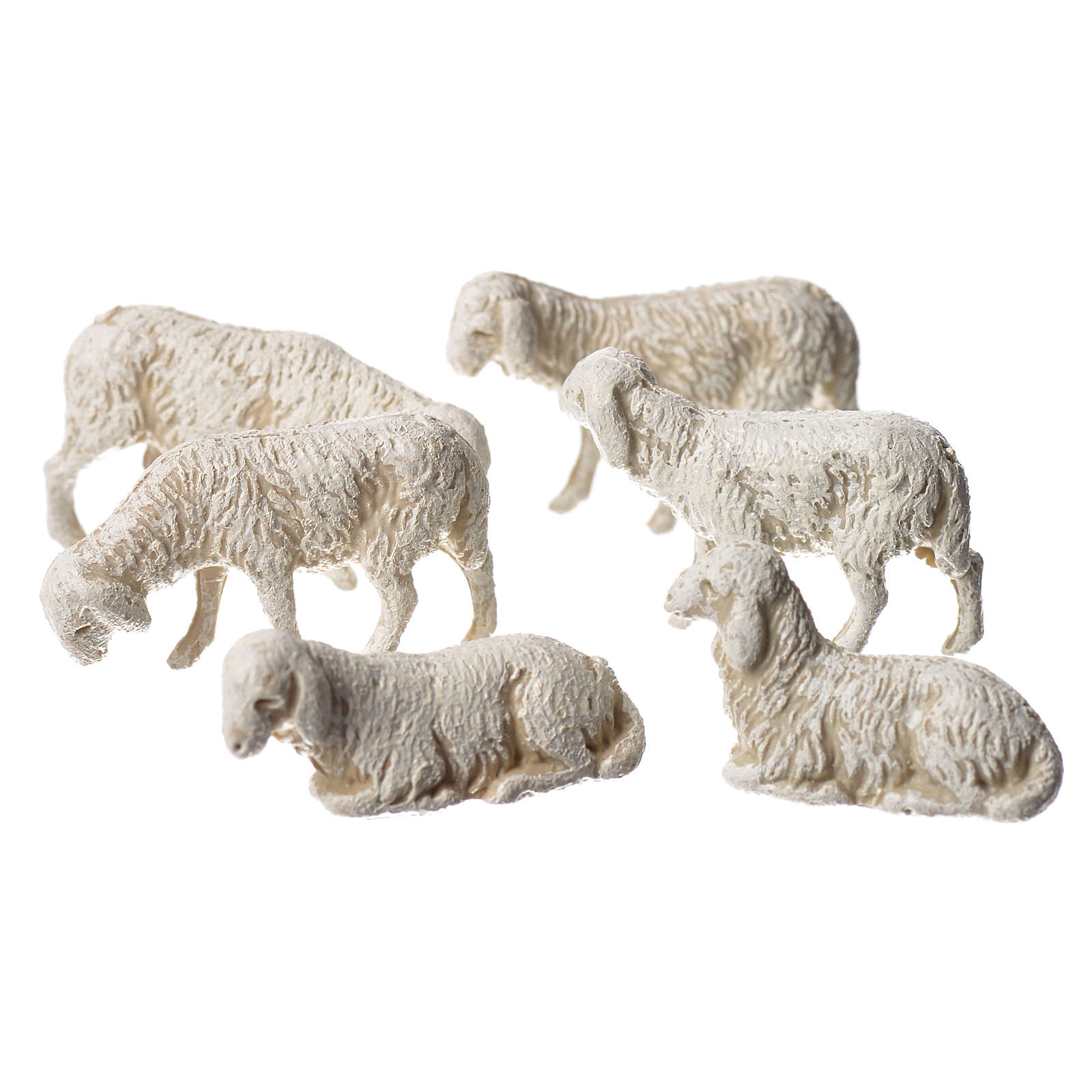 Pecore 6 soggetti presepe Moranduzzo 3,5 cm 4