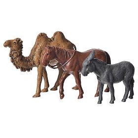 Camelo, burro e cavalo para presépio Moranduzzo figuras altura média 6 cm s1