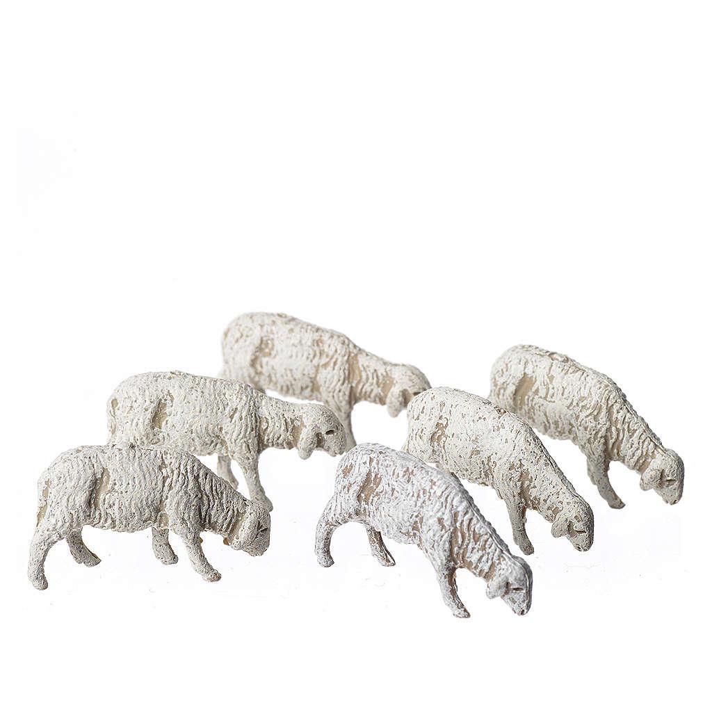 Ovejas 6 figuras Belén Moranduzzo 6 cm 4
