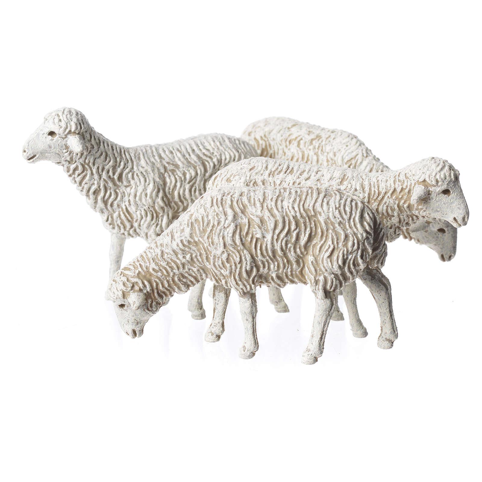 Ovelhas 4 peças para Presépio Moranduzzo com figuras de altura média 12 cm 4