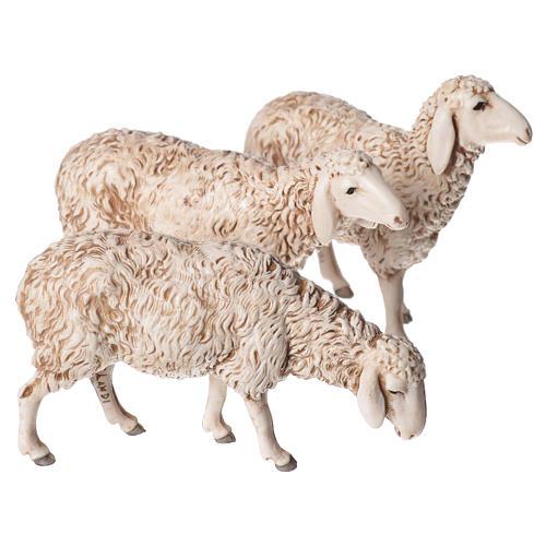 Ovejas, cabra y perro 6 figuras para Belén de Altura Media 13 cm Moranduzzo 2
