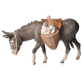 Krippe Moranduzzo: Esel mit Reitsattel 13cm Moranduzzo