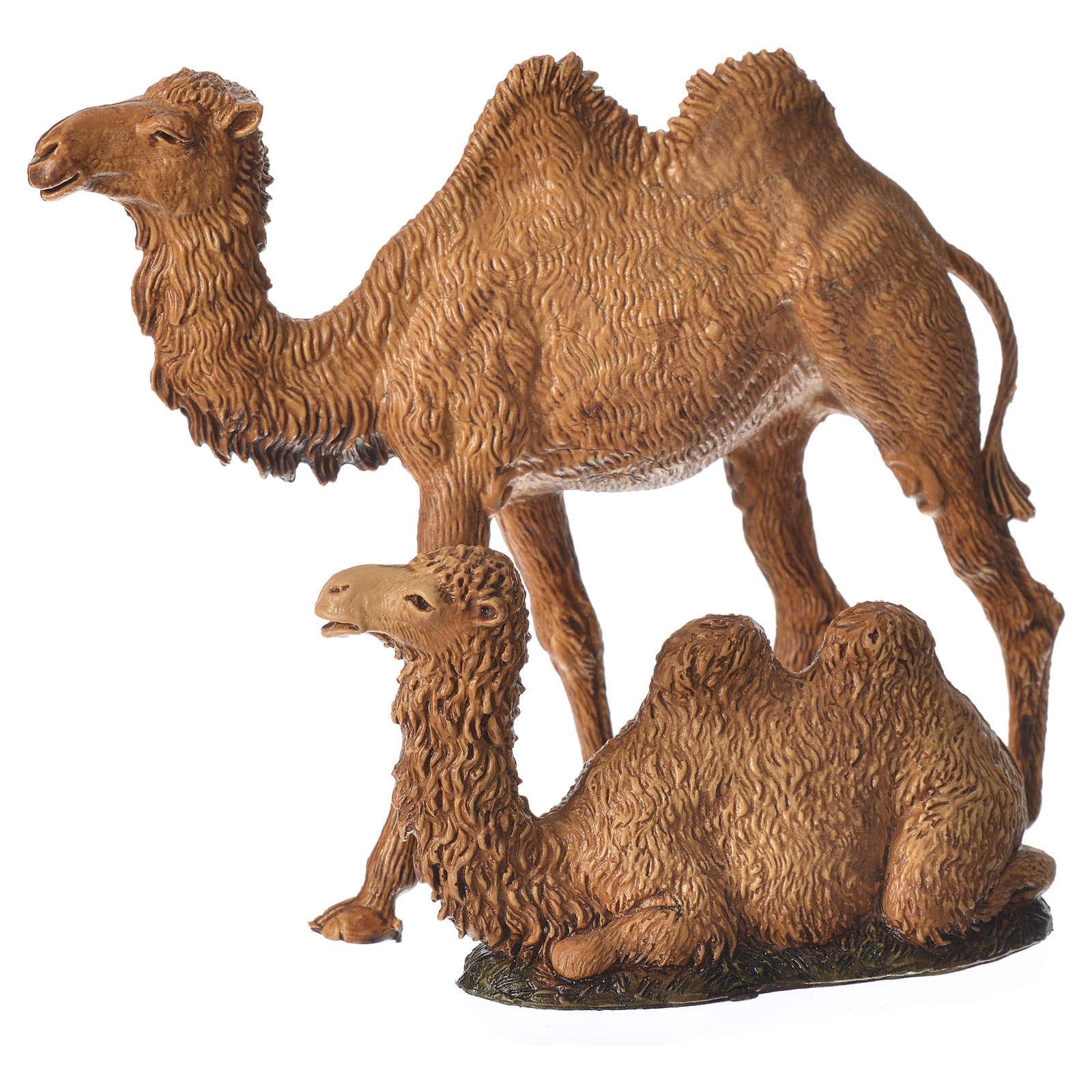 Camellos 3 figuras belén Moranduzzo 8-10 cm 4