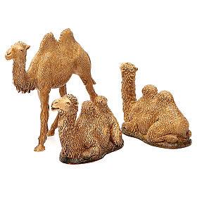 Camelos 3 peças para Presépio Moranduzzo com figuras de altura média 8-10 cm s1