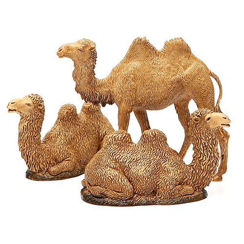 Camelos 3 peças para Presépio Moranduzzo com figuras de altura média 8-10 cm 8
