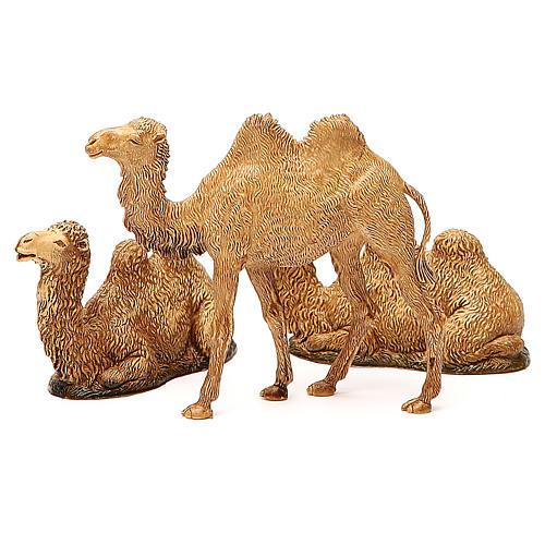 Camelos 3 peças para Presépio Moranduzzo com figuras de altura média 8-10 cm 2
