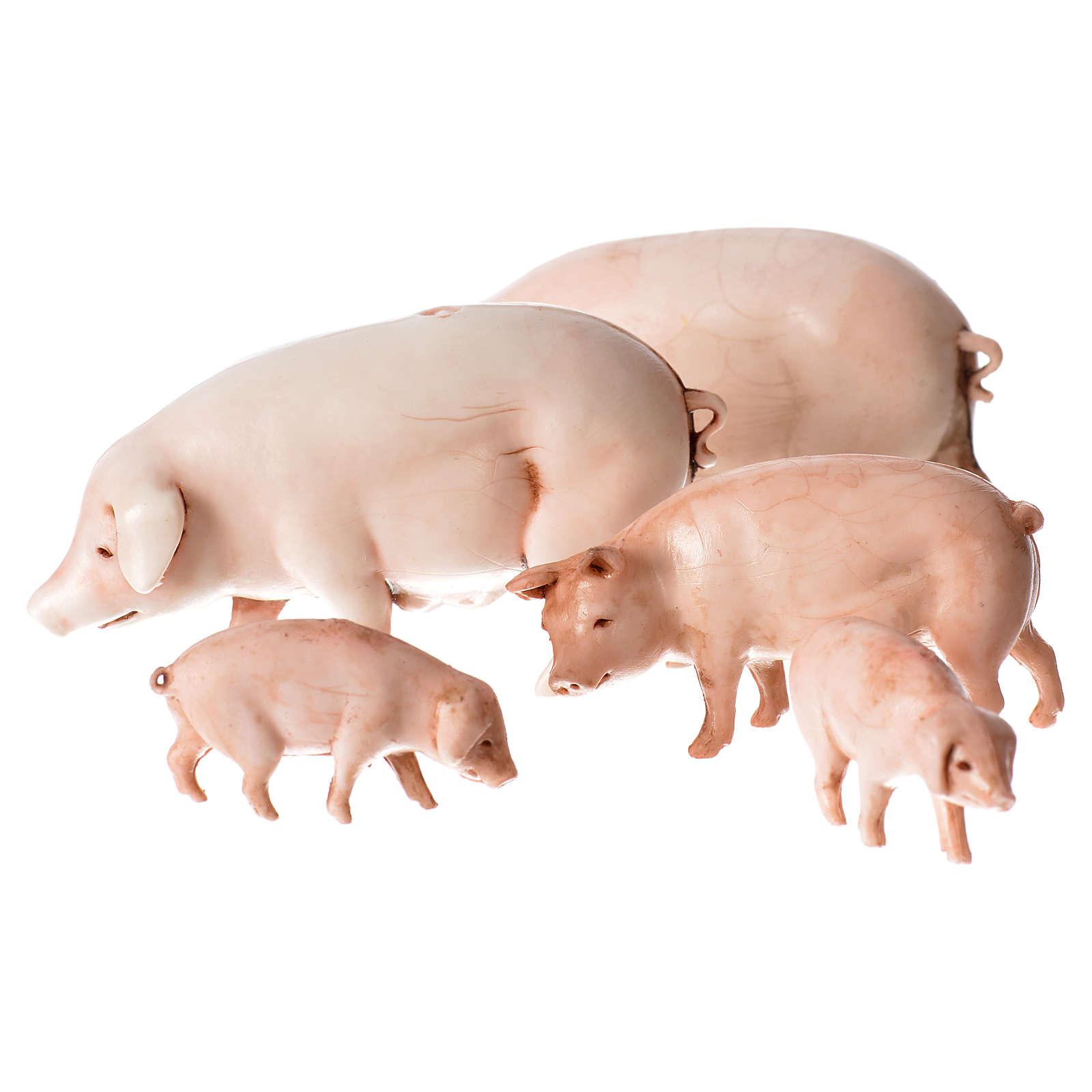 Cerdos belén Moranduzzo 10 cm 4