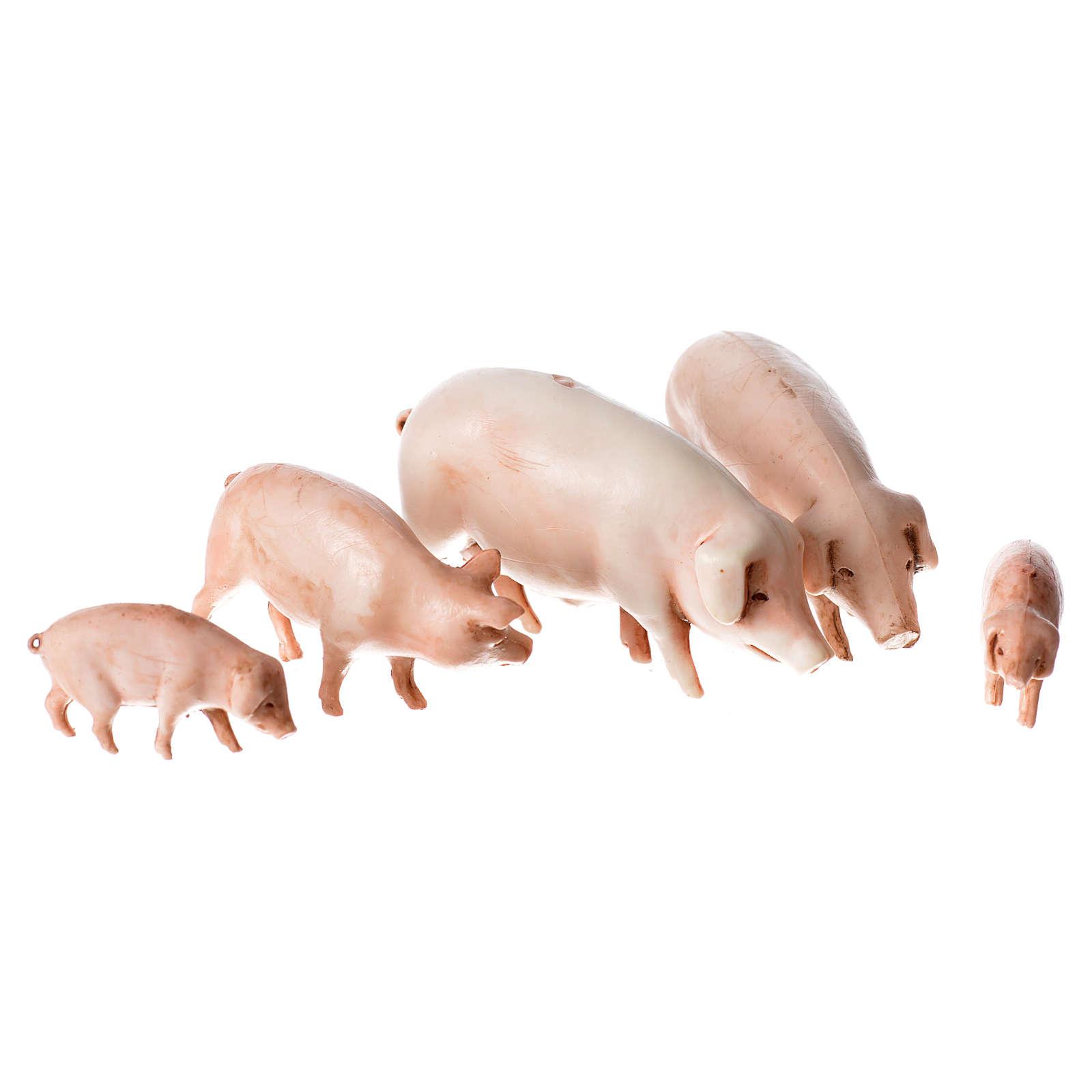 Cochons crèche Moranduzzo 10 cm 4